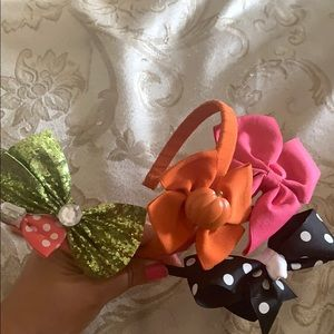 Set of Five Gymboree Headbands with bows